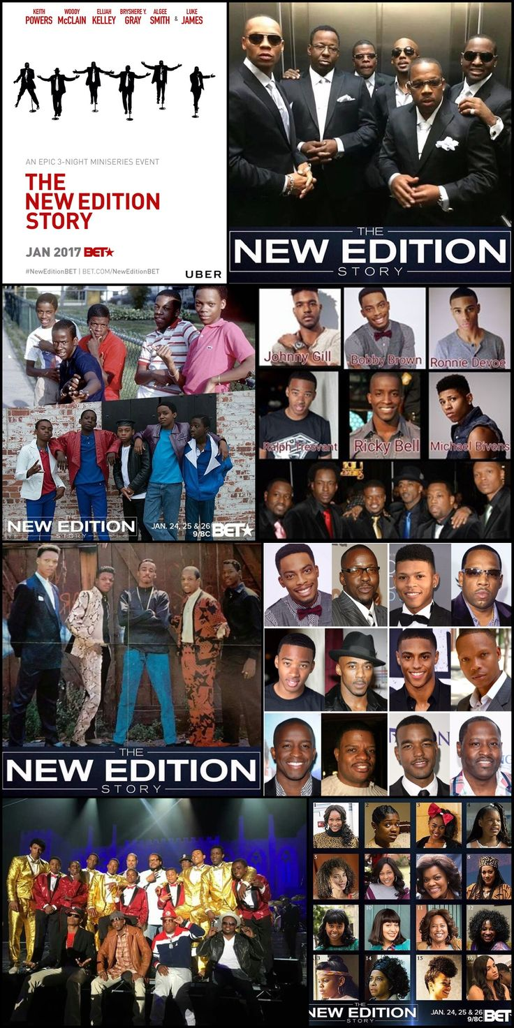 "THE NEW EDITION STORY (3 Nights Series) Begins Tuesday January 24, 2017 #BET 9:00pm Check Your Local #Listing The biopic The New Edition Story follows the iconic R&B/pop group ""New Edition"" from their humble beginnings in Boston to global stardom."