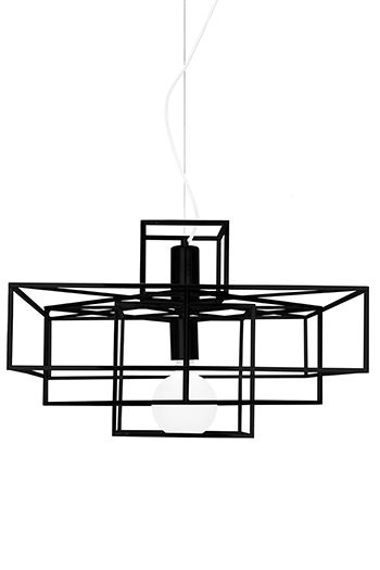 Pendel Cube Mattsvart - Globen