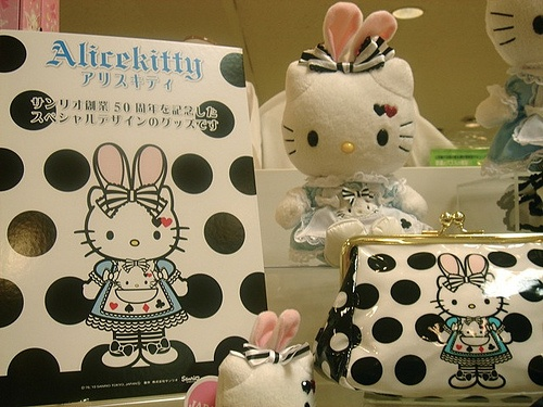 Hello Kitty and Alice in Wonderland Mash up, this would be perfect for lily bear!