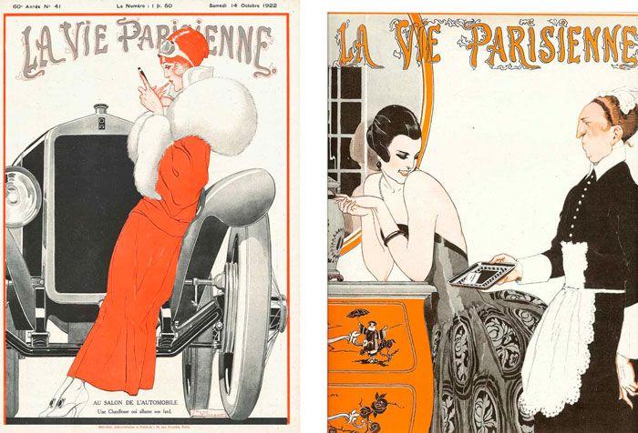 Иллюстрации на тему Жизнь Парижа, 1920-е года