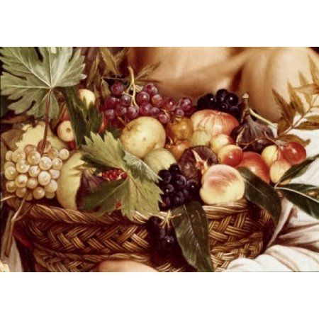 Boy With Basket Of Fruit - Detail C1607 Michelangelo Merisi da Caravaggio (1571-1610 Italian) Oil On Canvas Galleria Borghese Rome Italy Canvas Art - Michelangelo Merisi da Caravaggio (24 x 36)