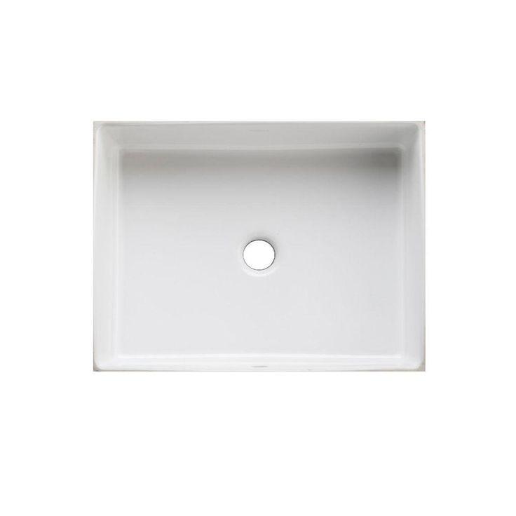 Bathroom Sinks - KOHLER Verticyl Rectangle Under-Mounted Bathroom Sink in White-K-2882-0 - The Home Depot - 19.8125 in  x 15.625 in