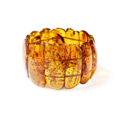 Bracelet ambre cognac maman