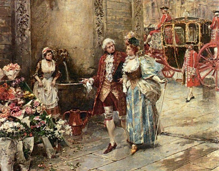 Lesur, Henri Victor (b,1863)- Visit To Florist -2d