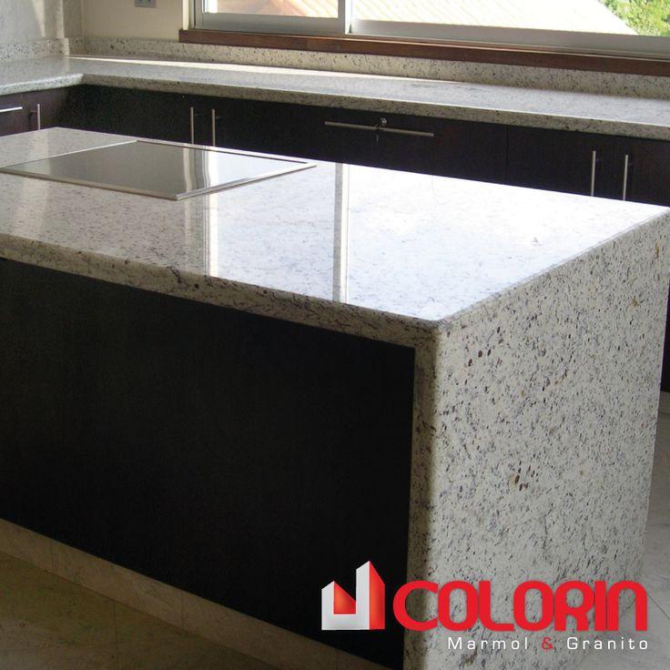 Mesones de cocina granito blanco chiquitano proyectos - Cocinas con encimeras de granito ...