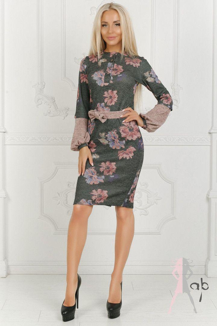 a5cd42b5928 Продажа Платье с цветочным принтом   ангора софт   Украина 40-1129  752569375 оптом и