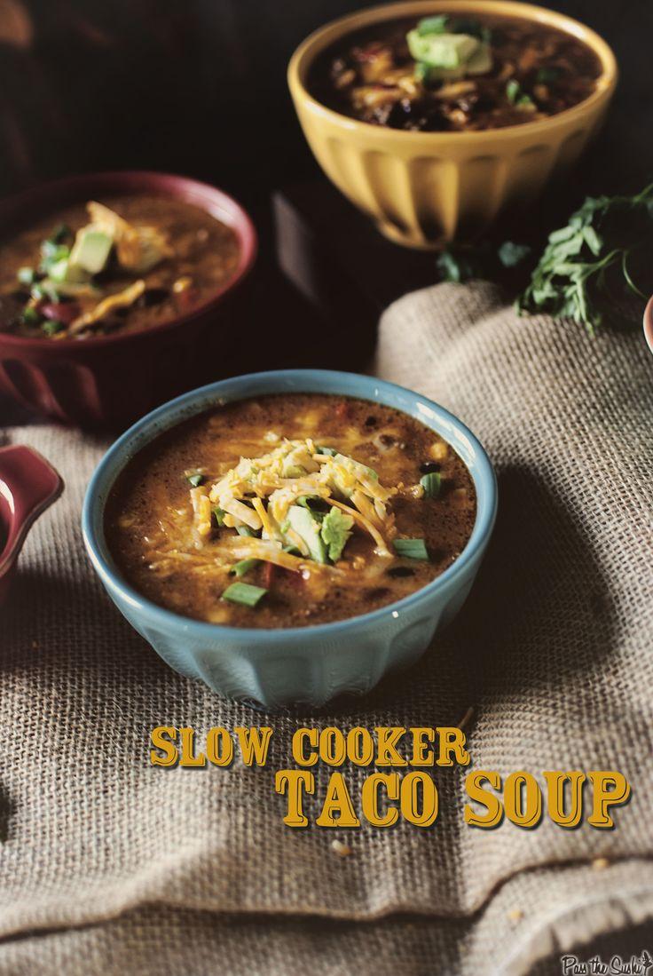 Super Simple Slow Cooker Taco Soup