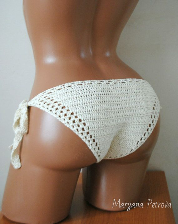 Crochet bikini bottom by MaryanaPetrova on Etsy
