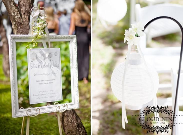Welcome sign and shepard hook #wedding #weddingceremony #beautiful #park #nature #bride #groom #cloudnineweddings #sunshinecoast #signage #weddingsignage