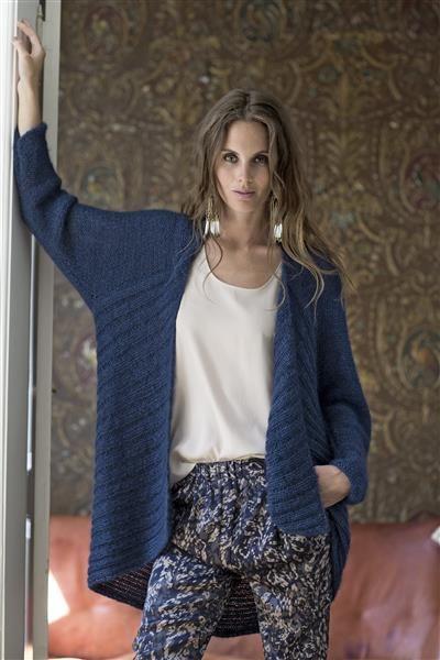 1412: Modell 10 Jakke #Silk #knit #strikk