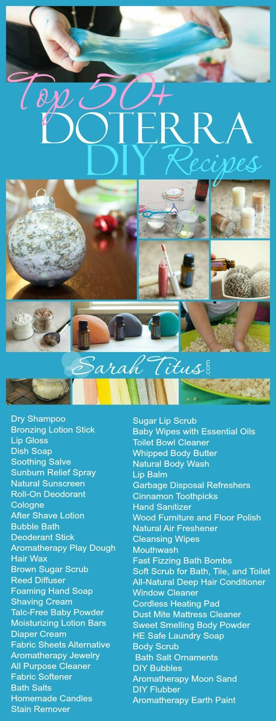 Save money by making your own really cool items from things you have around the house! Top 50 doTerra DIY Recipes: