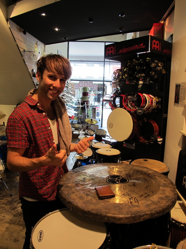 Nick Meredith drummer of Sydney based band Guineafowl visits Revolver Drums