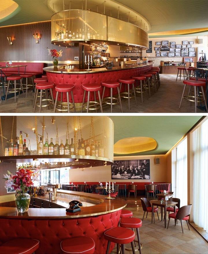 Gorgeous interior design of the kongress bar in munich for Interior design munich