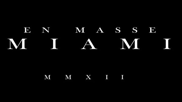 En Masse x Miami MMXII on Vimeo