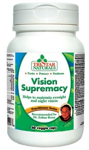 Vision Supremacy - Tristar Naturals. Helps to maintain eyesight and night vision. On sale at The Health Garden for $27.99