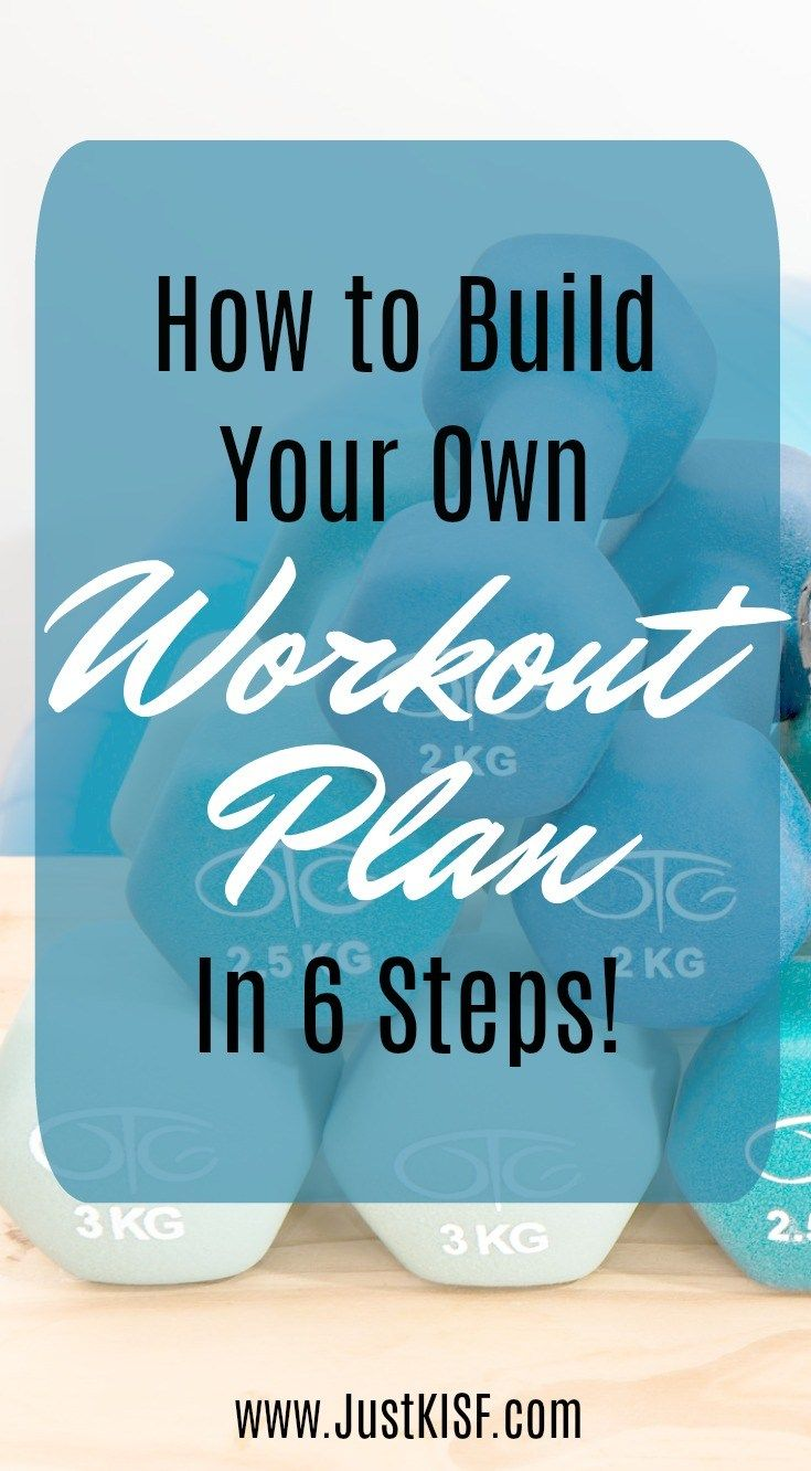 Create your very own personalized workout plan according to YOUR needs and YOUR schedule!