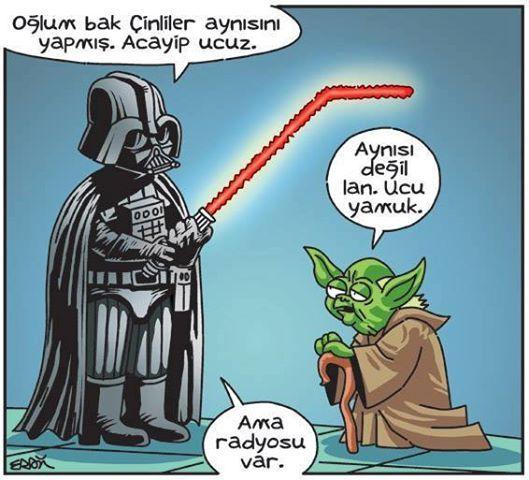 Ama radyosu var | Darth Vader Star Wars karikatür
