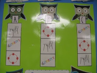 First Grade Shenanigans:  I really like this center rotation chart and the way she handles centers!