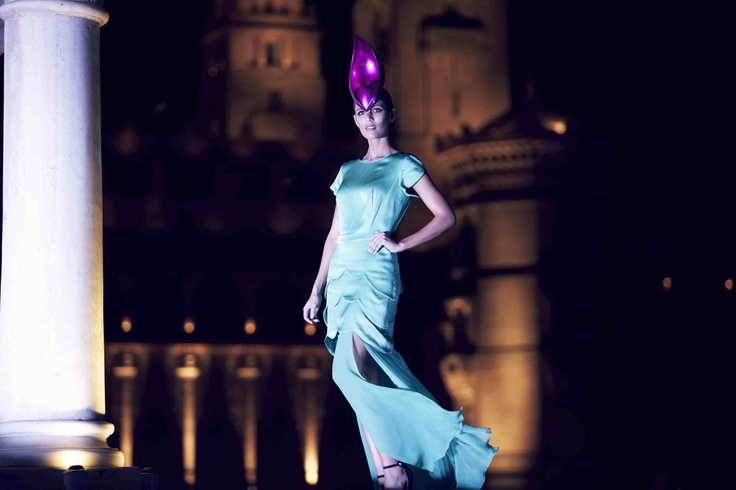 Beulah Dresses and Philip Treacy hats-India 2012 #show #director #shykalra