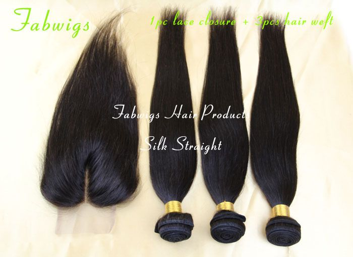 Peruvian Virgin Hair 4pcs lot Straight Hair Middle Part Lace Closure With 3pcs Bundles Unprocessed Peruvian Hair Extension