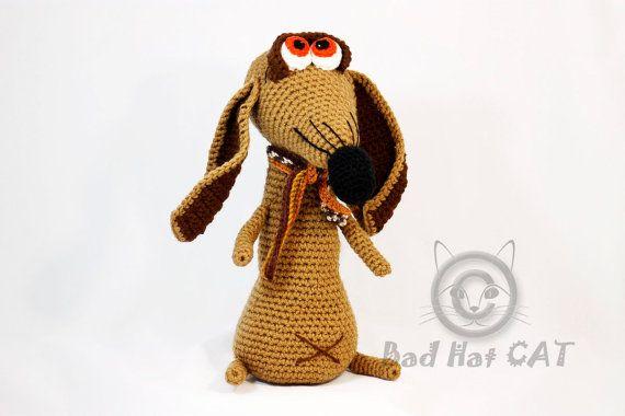 Fury the dog doll Crochet toy AmigurumiCrochet toys. by BadHatCat