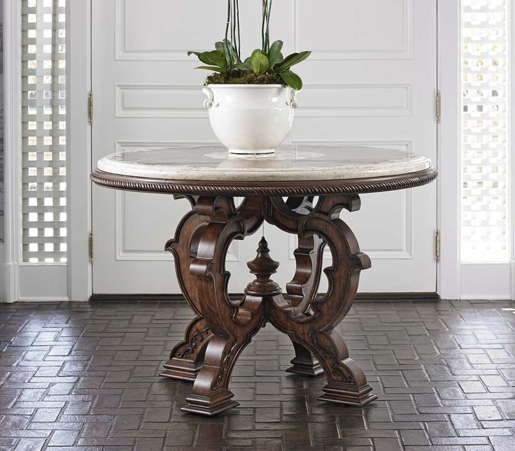 Inspirational Stone top Entry Table