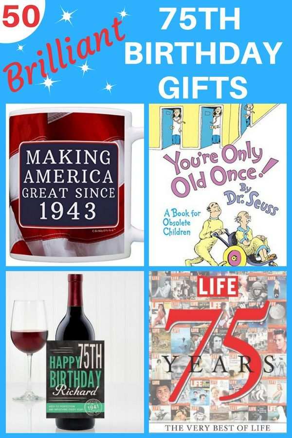 Top 75th Birthday Gifts 50 Sure To Please Gift Ideas