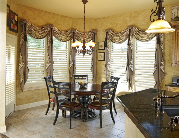 Breakfast Room Remodel Interior Design Renovation And Window Treatment Draperies By Euro Build