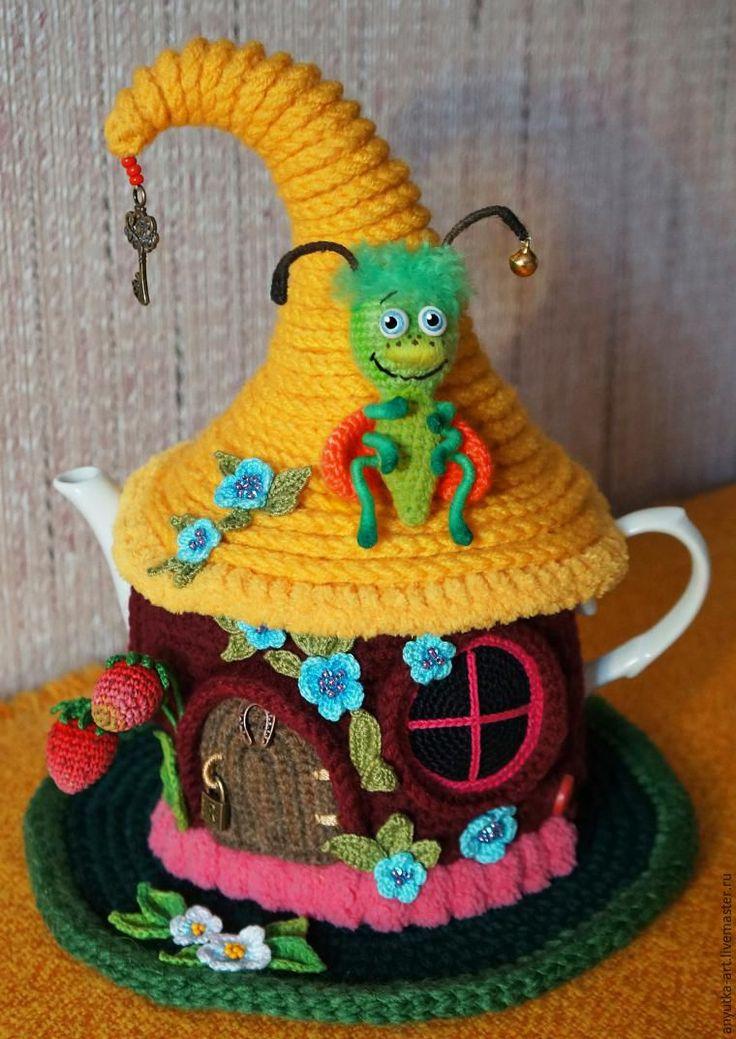 Вяжем грелку на чайник «Сказочный домик». Часть 2 - Ярмарка Мастеров - ручная работа, handmade
