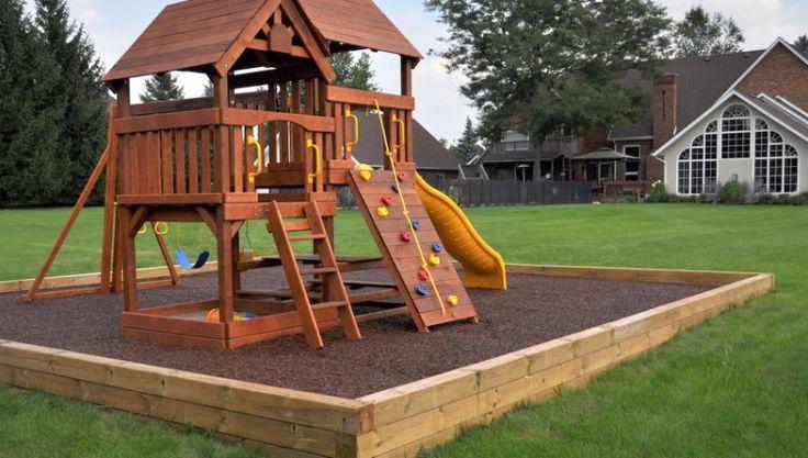 Tree House Playground Backyard Fun Pinterest