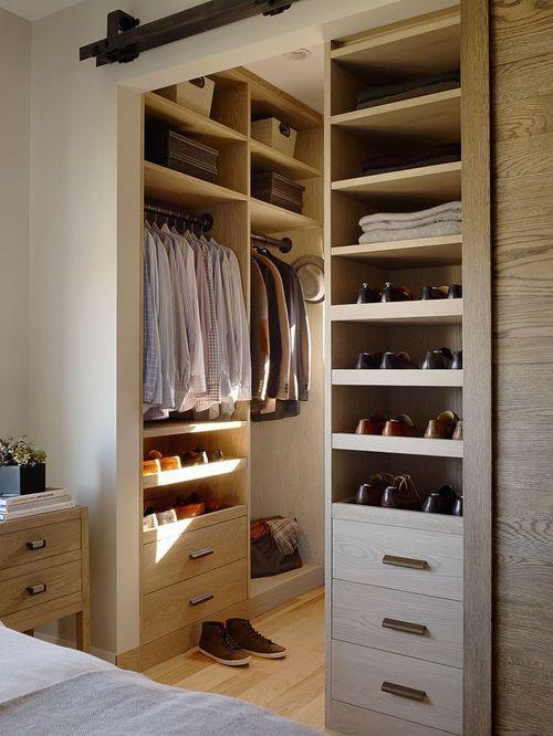 Organised built in wardrobe