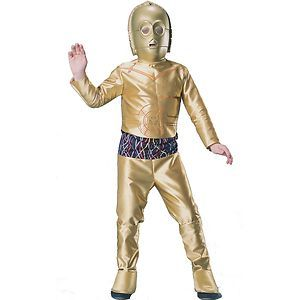 Toynk Toys Size Large Star Wars C-3PO Child Costume Fun for the Fancy Dress and Halloween