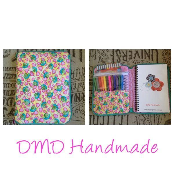 Medium zip around case, handmade by me, pattern by Sara Lawson