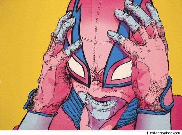 James Jirat Patradoon Draws Fist-Fighting Luchadores and the Neon Cyberpunk Future