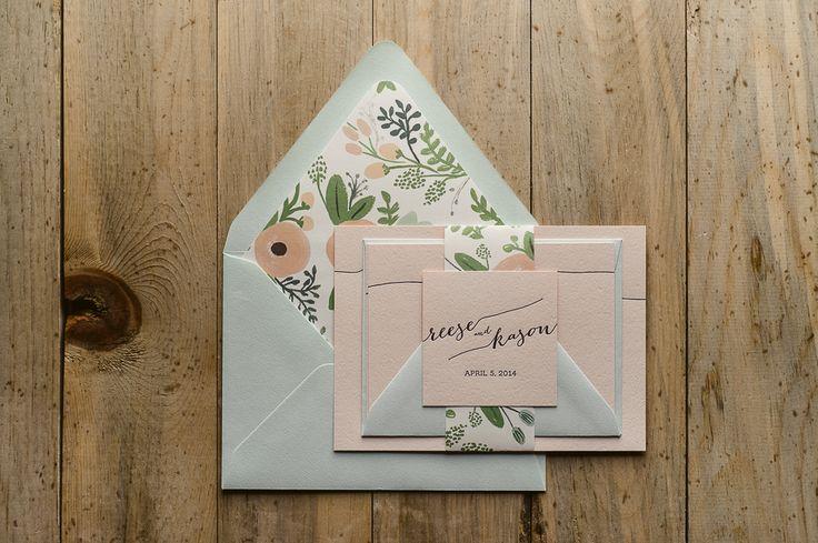 Floral+Wedding+Invitations,+2015+Wedding+Trends,+Letterpress+Wedding+Invitations