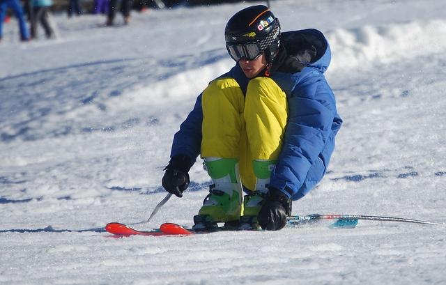 Esquiando sentado en Sextas, Formigal