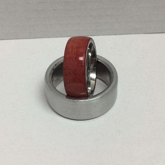 Wood Promise Ring For Her 5 Year Anniversary Gift For Wife