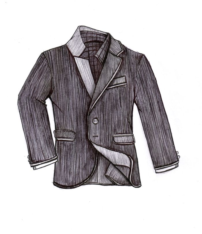 """Illustration from David Eisele's book """"The Business of Style"""".   www.davelleclothiers.com"""