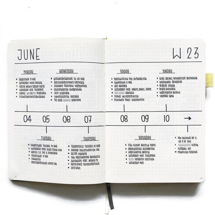 Take a look at these simple and minimalist weekly spreads / layouts of the Bullet Journal …