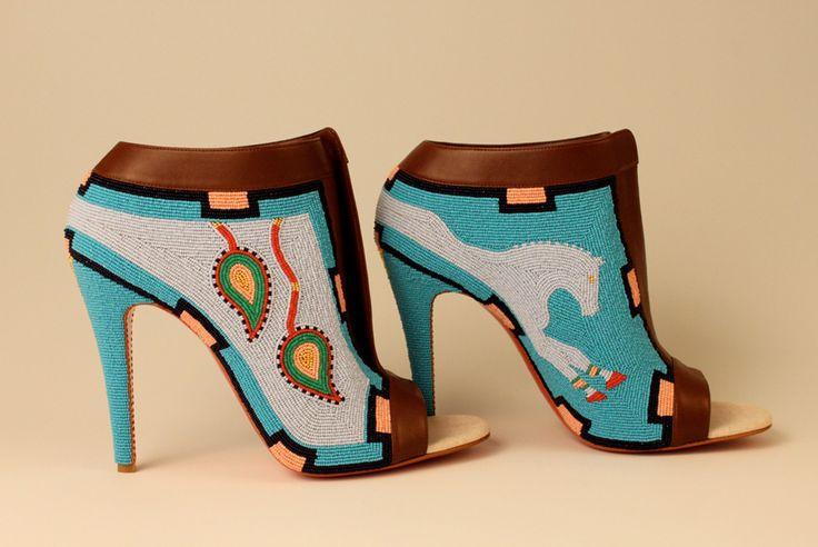 Jamie Okuma Shoshone, b.1977 Adaptation, 2011 Shoes designed by ...