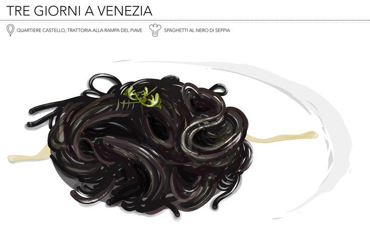 Trattoria alla Rampa, Venezia  #nerodiseppia #spaghetti #venice #dovemangiare #food #veneziacastello #lunch