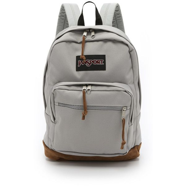 JanSport Right Pack Backpack featuring polyvore fashion bags backpacks grey rabbit knapsack bags gray bag jansport backpacks bags logo bags