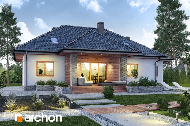 #Nowość! Projekt: #Dom w akebiach 6 - jednorodzinny #parterowy zaprojektowany w nowoczesnej stylistyce.