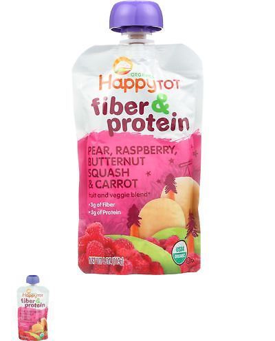 Baby Food 162034: Happy Tot Toddler Food - Organic - Fiber And Protein - Stage 4 - Pear Raspberry -> BUY IT NOW ONLY: $47.36 on eBay!