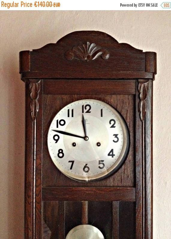Pendulum Wall Clock Dark Wood Wall Clock Working Pendulum Clock Vintage Pendulum Wall Clock Rustic Country House Clock Wall Decor Wood Wall Clock Vintage Wall Clock Wall Clock