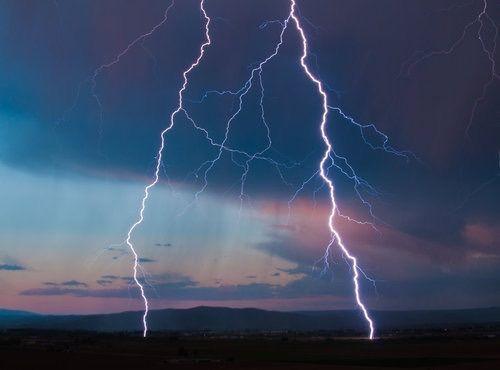 sky, lightning, and storm