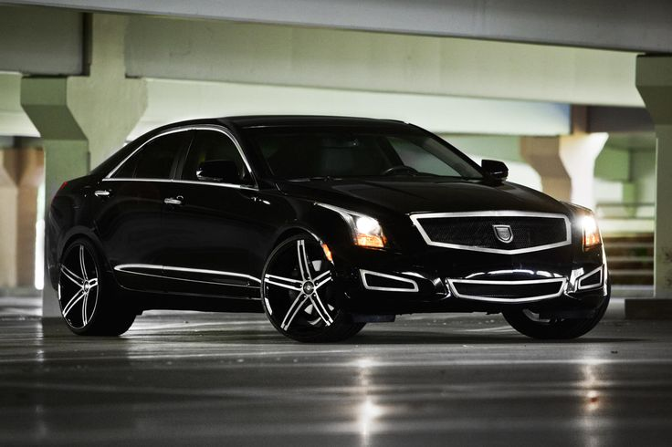 Lexani Wheels, the leader in custom luxury wheels.  Machine and Black R-three on the Cadillac ATS.