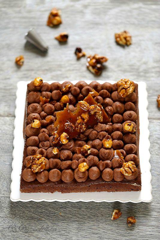 Gâteau chocolat caramel (sans gluten)
