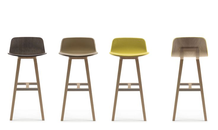 minimalist design bar stool KUSKOA by Jean Louis Iratzoki Alki
