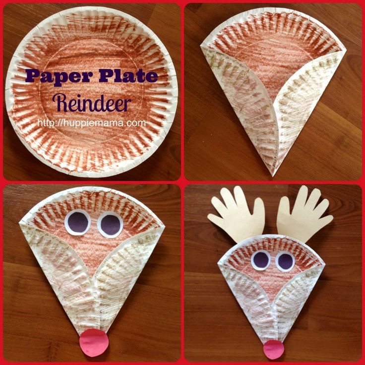 Christmas Kids Craft: Paper Plate Reindeer | Huppie Mama